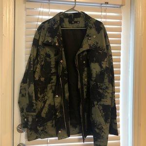 """Love"" embellished army jacket"